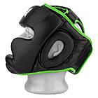 Боксерський шолом тренувальний PowerPlay 3068 PU + Amara Чорно-Зелений S, фото 3