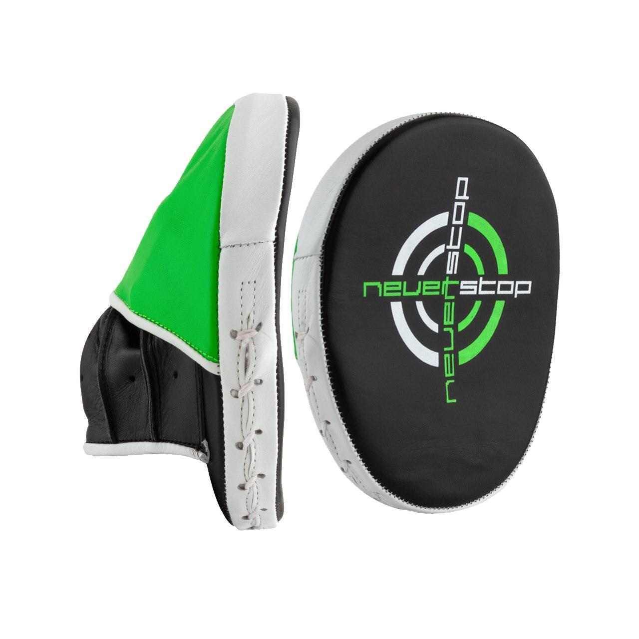 Боксерські Лапи PowerPlay 3073 чорно-зелені PU [пара]
