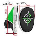 Боксерські Лапи PowerPlay 3073 чорно-зелені PU [пара], фото 7
