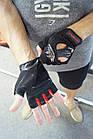 Рукавички для фітнесу PowerPlay 2222 Чорні M, фото 8