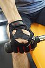 Рукавички для фітнесу PowerPlay 2222 Чорні M, фото 9