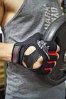 Рукавички для фітнесу PowerPlay 2222 Чорні M, фото 10