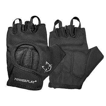 Рукавички для фітнесу і важкої атлетики PowerPlay 2004 жіночі чорні XS
