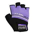 Перчатки для фитнеса и тяжелой атлетики Power System Fit Girl Evo PS-2920 Purple M, фото 4