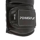 Боксерські рукавиці PowerPlay 3016 Чорно-Білі 12 унцій, фото 9