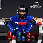 Боксерські рукавиці PowerPlay 3017 Сині карбон 12 унцій, фото 10
