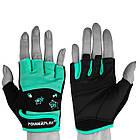 Фітнес рукавички PowerPlay 3492 жіночі Чорно-М'ясного ятні M, фото 2