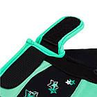 Фітнес рукавички PowerPlay 3492 жіночі Чорно-М'ясного ятні M, фото 3