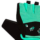 Фітнес рукавички PowerPlay 3492 жіночі Чорно-М'ясного ятні M, фото 6