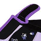 Рукавички для фітнесу PowerPlay 3492 жіночі Чорно-Фіолетові M, фото 3