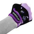 Рукавички для фітнесу PowerPlay 3492 жіночі Чорно-Фіолетові M, фото 5