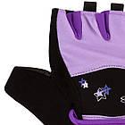Рукавички для фітнесу PowerPlay 3492 жіночі Чорно-Фіолетові M, фото 6
