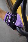 Рукавички для фітнесу PowerPlay 3492 жіночі Чорно-Фіолетові M, фото 10