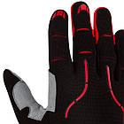 Велорукавички PowerPlay 6662 В Чорно-Червоні M, фото 5