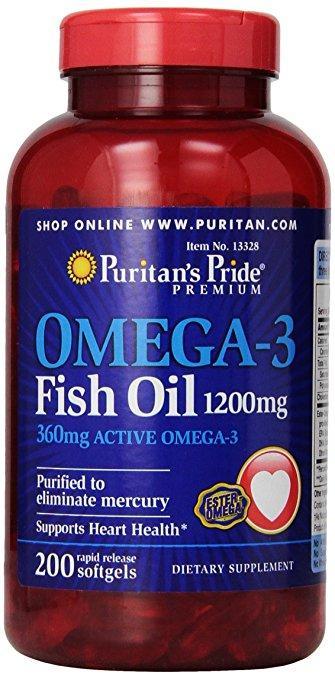 Витамины и минералы Puritan's Pride Omega-3 Fish Oil 1200 mg (200 softgels)