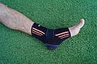 Эластический Голеностоп Power System Ankle Support Evo PS-6022 L Black/Orange, фото 8