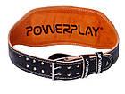 Пояс для важкої атлетики PowerPlay 5086 Чорно-Коричневий XS, фото 5