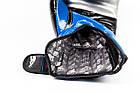 Боксерські рукавиці PowerPlay 3007 Сині карбон 16 унцій, фото 5