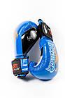 Боксерські рукавиці PowerPlay 3007 Сині карбон 16 унцій, фото 6