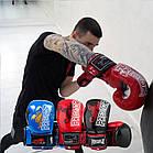Боксерські рукавиці PowerPlay 3007 Сині карбон 16 унцій, фото 9
