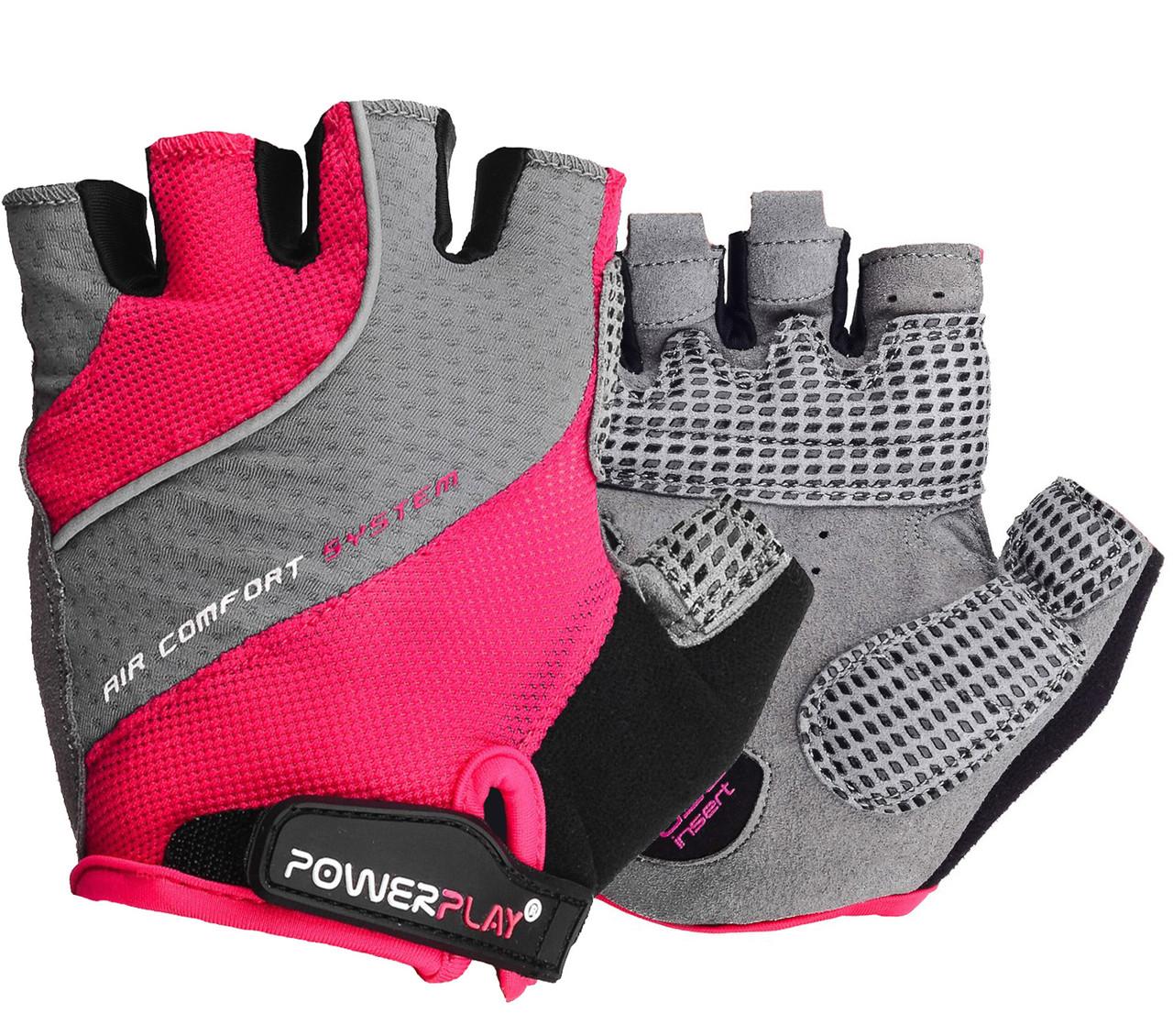 Велорукавички PowerPlay 5023 Рожеві S
