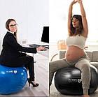 Мяч для фитнеса и гимнастики POWER SYSTEM PS-4013 75 cm Blue, фото 7