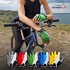Велорукавички PowerPlay 5010 D Біло-червоні M, фото 9