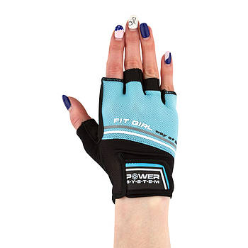 Перчатки для фитнеса и тяжелой атлетики Power System Fit Girl Evo PS-2920 Blue XS