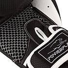 Боксерські рукавиці PowerPlay 3011 Чорно-Білі карбон 12 унцій, фото 3