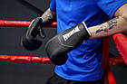Боксерські рукавиці PowerPlay 3011 Чорно-Білі карбон 12 унцій, фото 5
