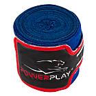 Бинти для боксу PowerPlay 3046 Сині (4м), фото 8