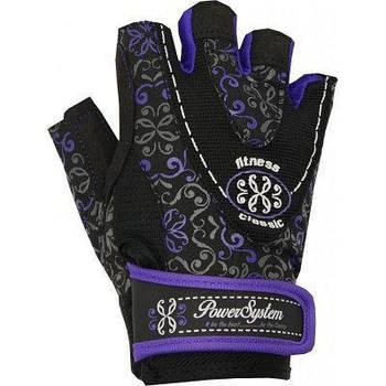 Рукавички для фітнесу і важкої атлетики Power System Classy Жіночі PS-2910 XS Black/Purple