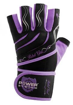 Рукавички для фітнесу і важкої атлетики Power System Rebel Girl PS-2720 M Purple