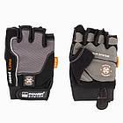 Перчатки для фитнеса и тяжелой атлетики Power System Man's Power PS-2580 XS Black/Grey, фото 5