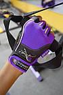 Перчатки для фитнеса и тяжелой атлетики Power System Woman's Power PS-2570 M Purple, фото 5