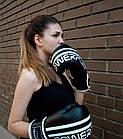 Боксерські рукавиці PowerPlay 3010 Чорно-Білі 12 унцій, фото 9