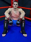 Рукавички для MMA PowerPlay 3058 Чорно-Червоні XL, фото 5