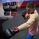 Рукавички для MMA PowerPlay 3058 Чорно-Сині S, фото 8