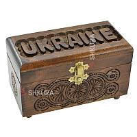 "Шкатулка резная ""Ukraine"" 02, фото 1"