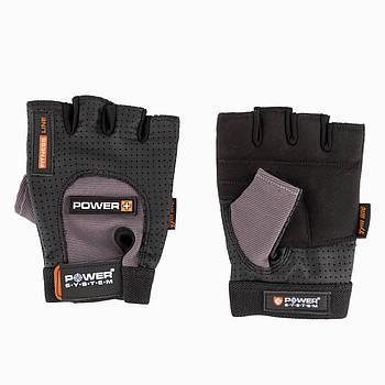 Перчатки для фитнеса и тяжелой атлетики Power System Power Plus PS-2500 L Black/Grey
