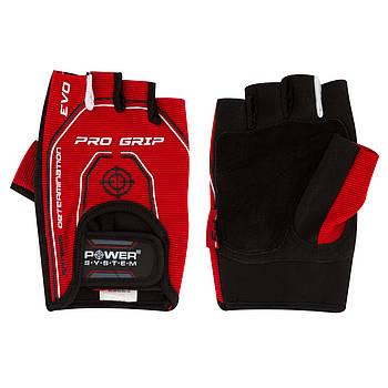 Перчатки для фитнеса и тяжелой атлетики Power System Pro Grip EVO PS-2250E L Red