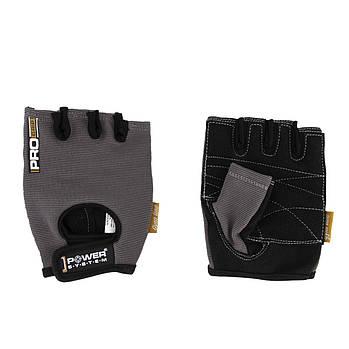 Рукавички для фітнесу і важкої атлетики Power System Pro Grip PS-2250 XS Grey