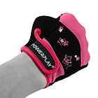 Рукавички для фітнесу PowerPlay 3492 жіночі Чорно-Розові S, фото 5