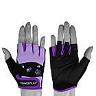 Рукавички для фітнесу PowerPlay 3492 жіночі Чорно-Фіолетові S, фото 2