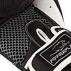 Боксерські рукавиці PowerPlay 3011 Чорно-Білі карбон 10 унцій, фото 3