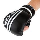 Снарядні рукавички PowerPlay 3025 Чорно-Білі M, фото 5