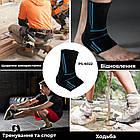 Эластический Голеностоп Power System Ankle Support Evo PS-6022 XL Black/Blue, фото 6
