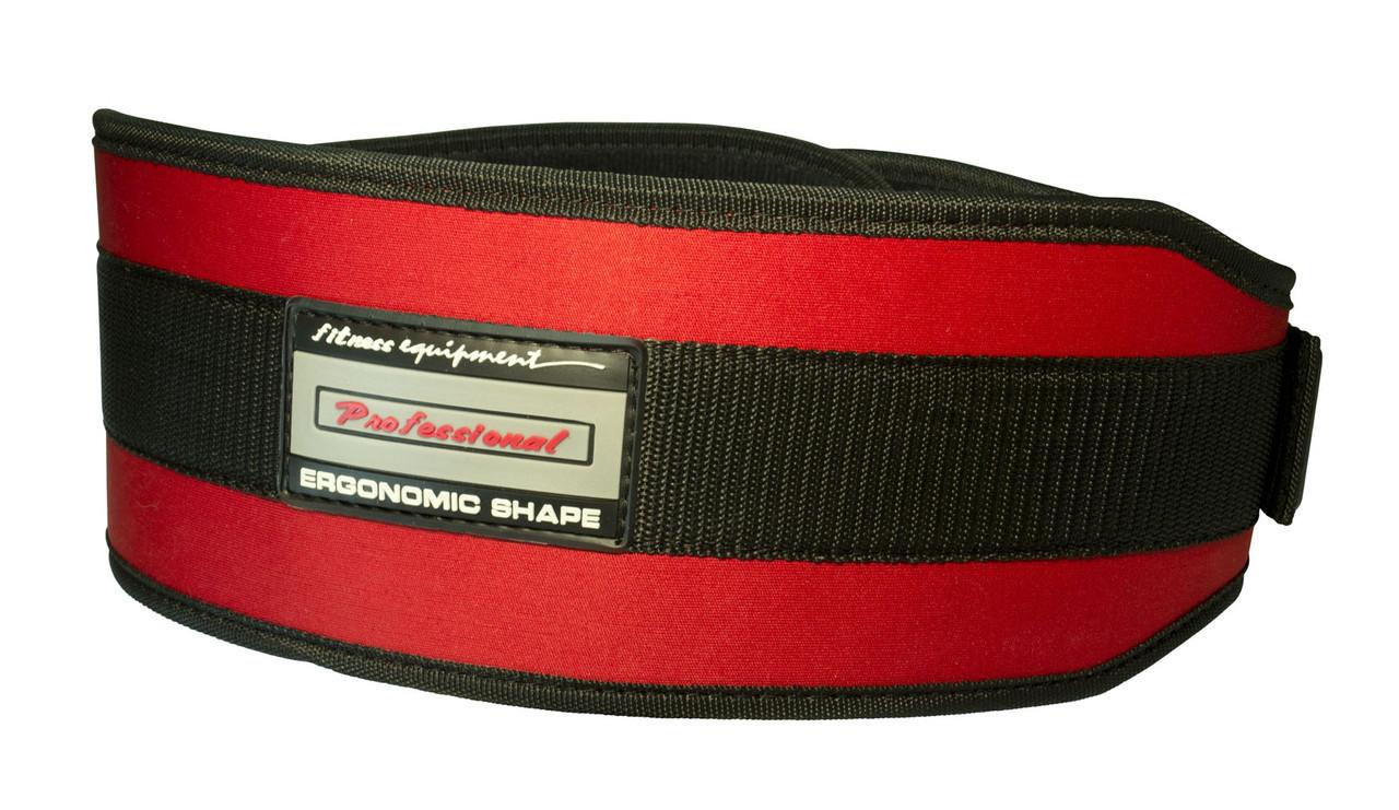 Пояс для важкої атлетики PowerPlay 5535 L Червоно-Чорній (Неопрен)