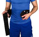 Пояс для важкої атлетики PowerPlay 5535 Чорний (Неопрен) XL, фото 4