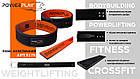 Пояс для важкої атлетики PowerPlay 5175 Чорно-Помаранчевий M, фото 7